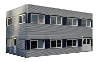 Moderne noodlokalen huren bel wema tijdelijke ruimte bv for Buitentrap te koop